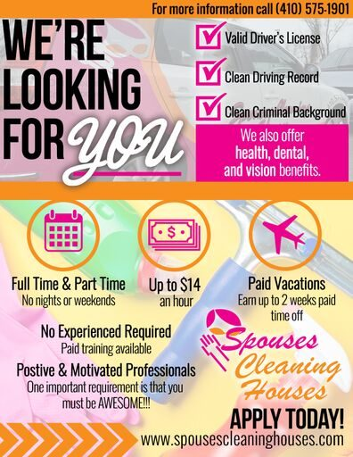 looking for cleaning technicians